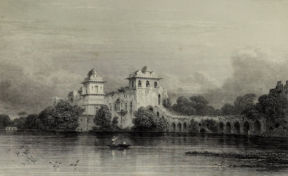 Views in India, China, and on the Shores of the Red Sea - The Water Palace, Mandoo (1835)