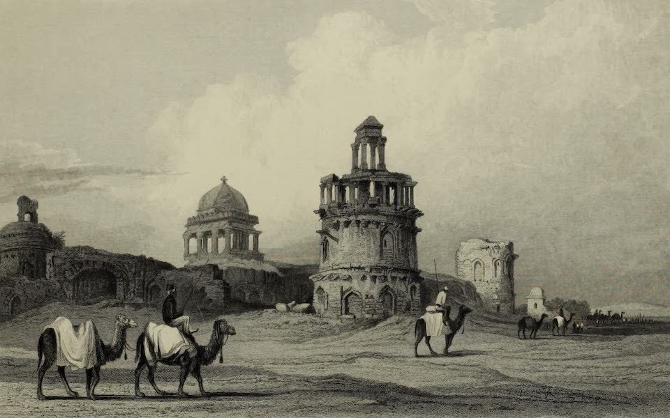 Views in India, China, and on the Shores of the Red Sea - Ruins, Old Delhi (1835)