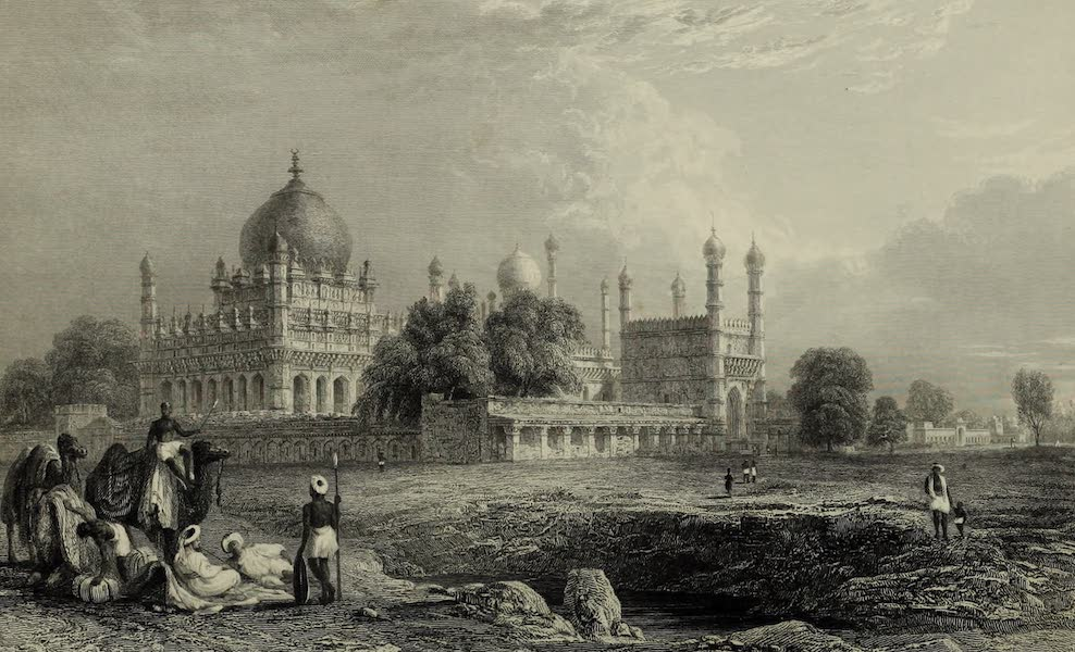 Views in India, China, and on the Shores of the Red Sea - Tomb of Ibrahim Padsha, Bejapore (1835)