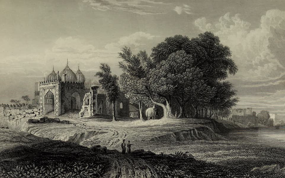Views in India, China, and on the Shores of the Red Sea - A Ruin on the Banks of the Jumna above the City of Delhi (1835)