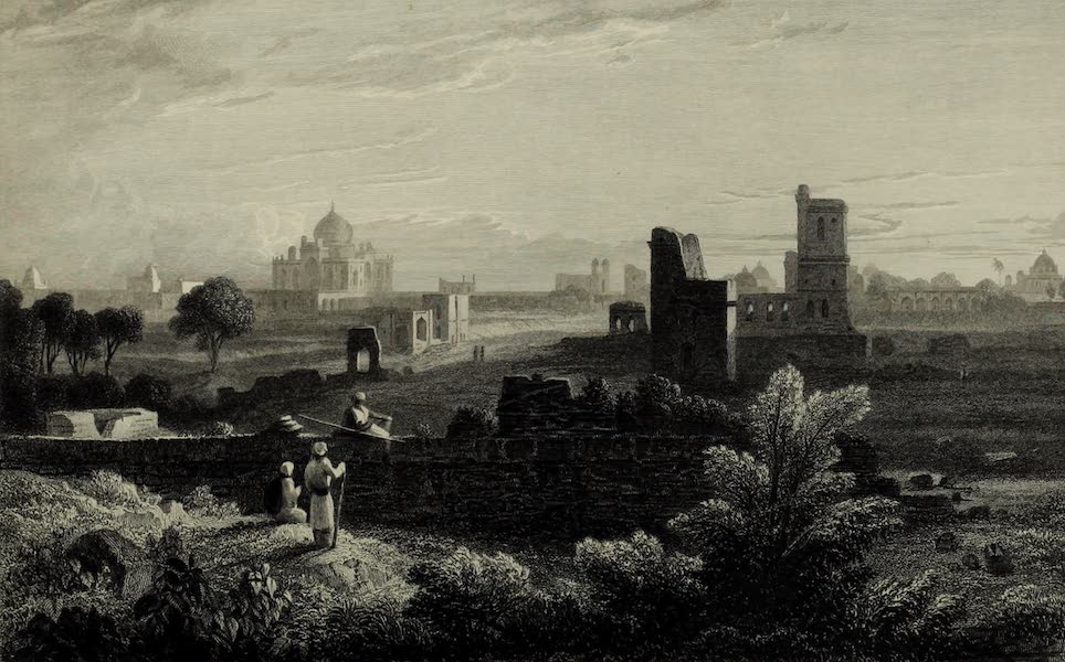 Views in India, China, and on the Shores of the Red Sea - Tomb of Humaioon, Delhi (1835)