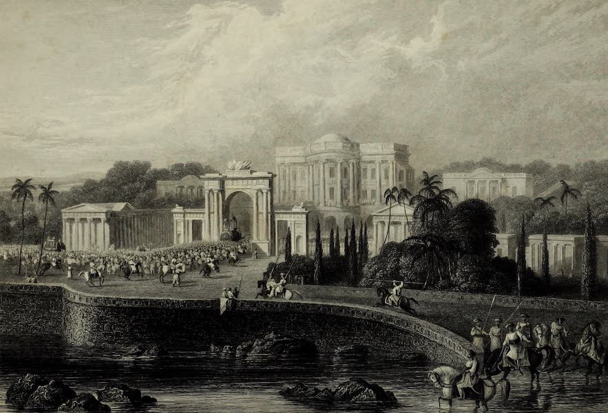 Views in India, China, and on the Shores of the Red Sea - The British Residency at Hyderabad (1835)