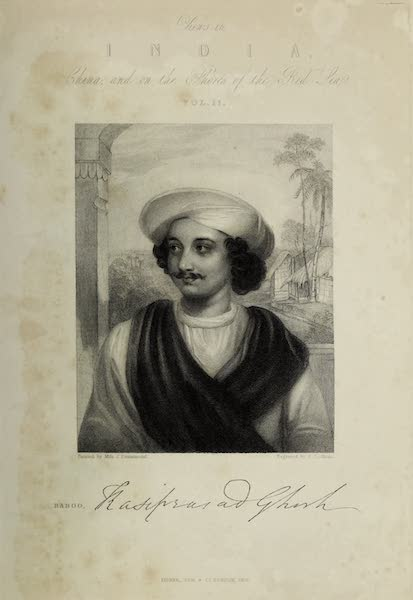 Views in India, China, and on the Shores of the Red Sea - Frontispiece Portrait (1835)