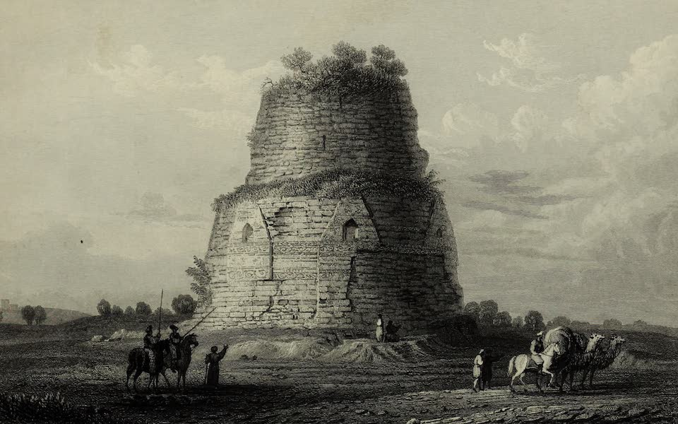 Views in India, China, and on the Shores of the Red Sea - Sarnat, A Boodh Monument near Benares (1835)