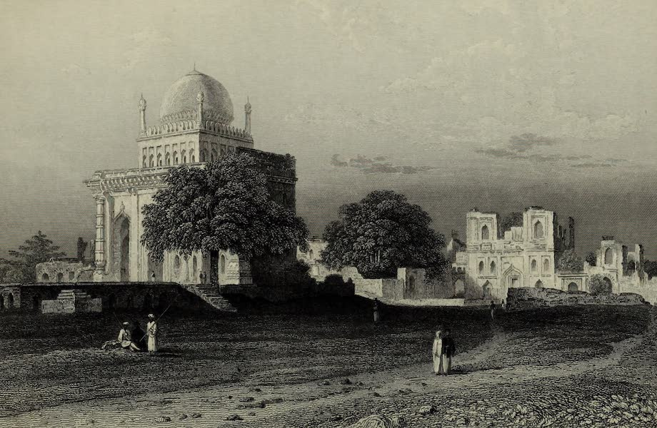 Views in India, China, and on the Shores of the Red Sea - Mosque of Mustapha Khan, Beejapore (1835)