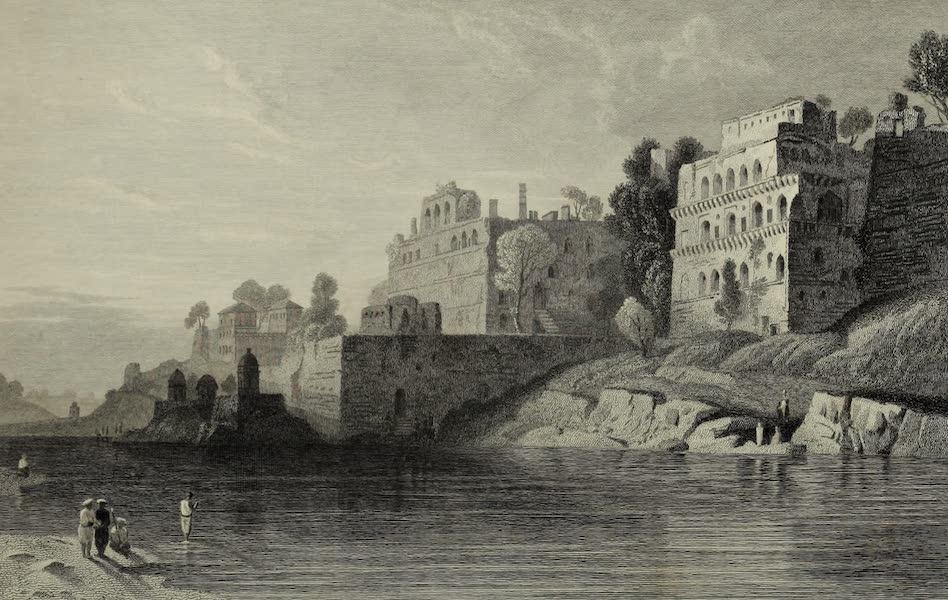 Views in India, China, and on the Shores of the Red Sea - Kings Fort, Boorhanpore (1835)