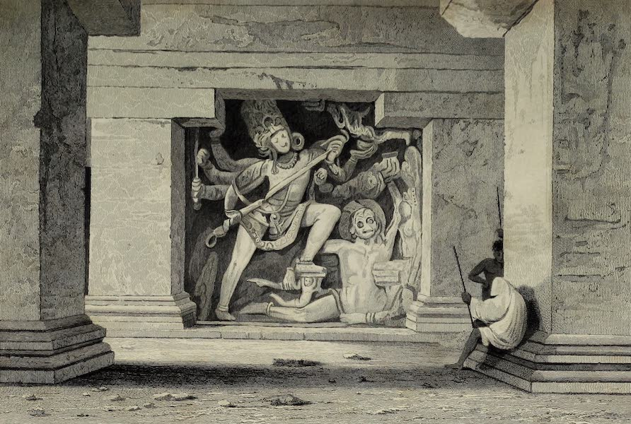 Views in India, China, and on the Shores of the Red Sea - Dus Awtar Caves of Ellora (1835)