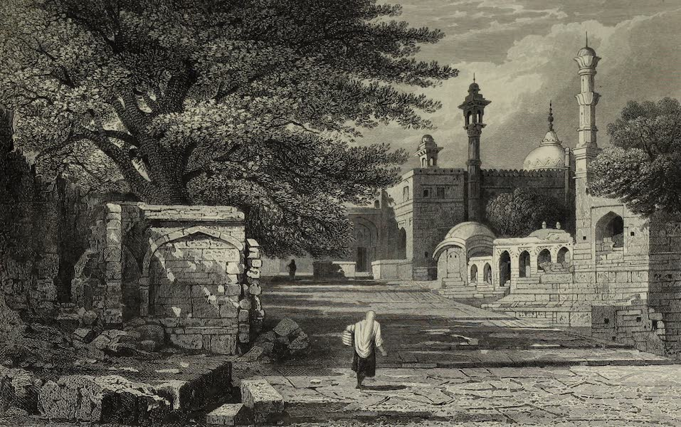 Views in India, China, and on the Shores of the Red Sea - Aurungzebes Tomb, Rozah (1835)