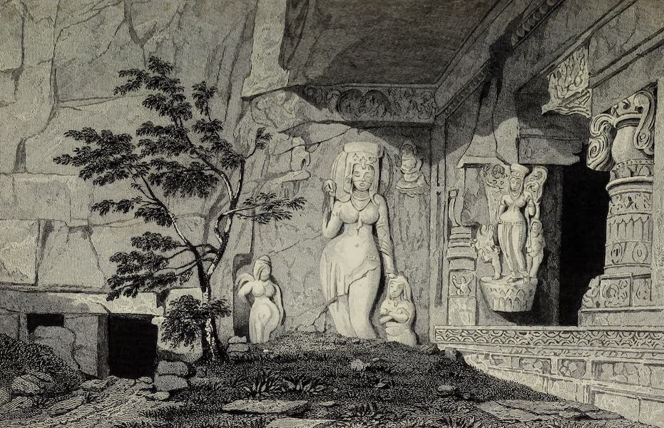 Views in India, China, and on the Shores of the Red Sea - Rameswur Caves of Ellora (1835)