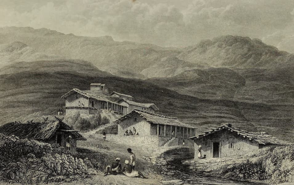 Views in India, China, and on the Shores of the Red Sea - Jerdair, A Hill Village Gurwall (1835)