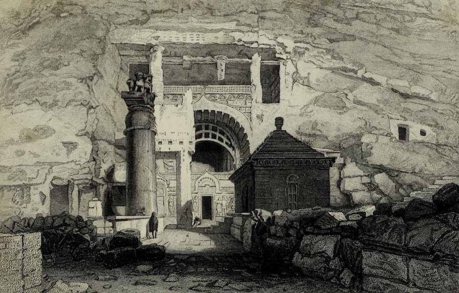 Views in India, China, and on the Shores of the Red Sea - The Cave of Karli (1835)
