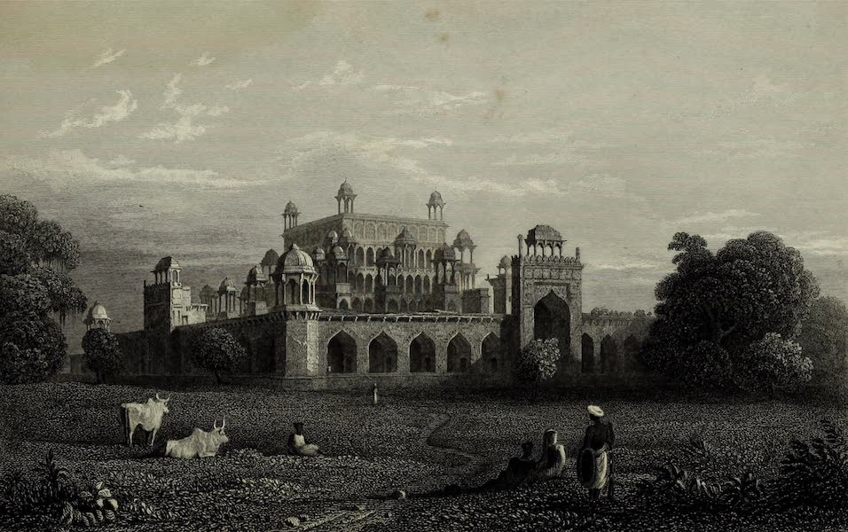 Views in India, China, and on the Shores of the Red Sea - Akbars Tomb, Secundra (1835)