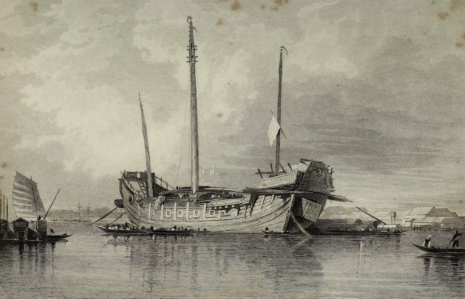 Views in India, China, and on the Shores of the Red Sea - A Chinese Junk, Canton River (1835)