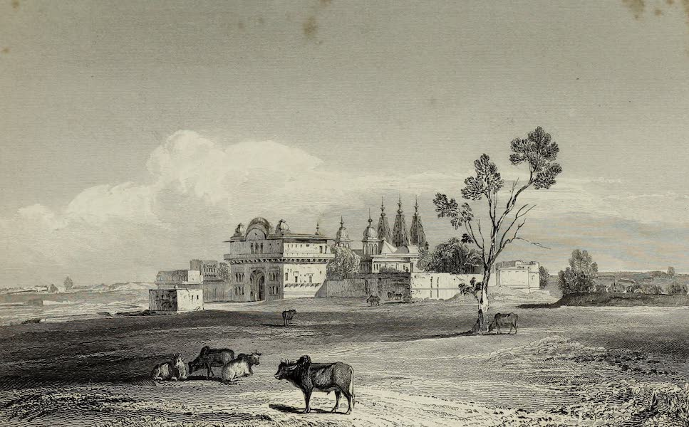 Views in India, China, and on the Shores of the Red Sea - Hindoo Temple at Chandngoan (1835)