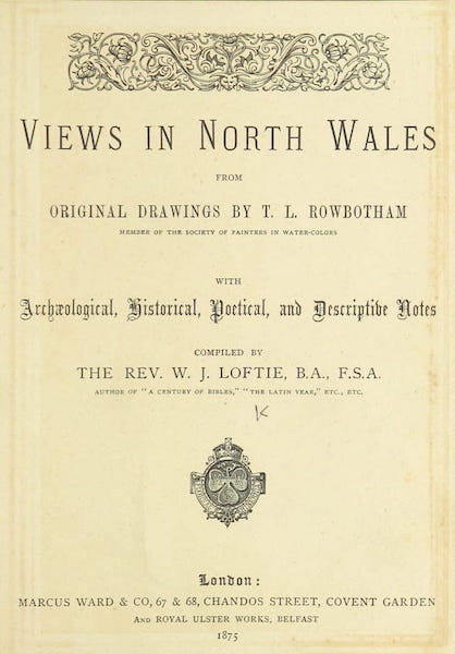 Views in North Wales - Title Page (1875)