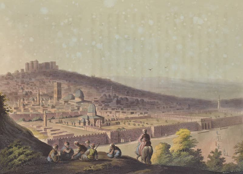 Views in Palestine - View of Jerusalem from the Mount of Olives (1804)