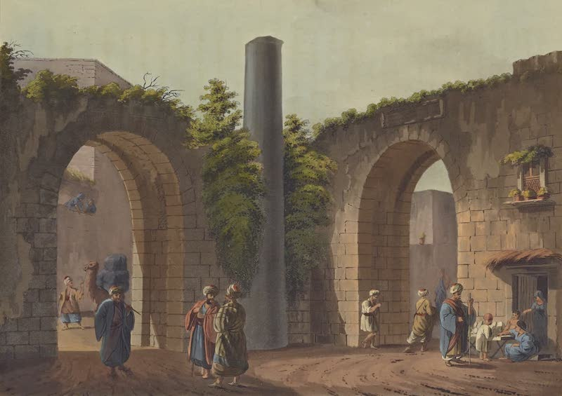 Views in Palestine - Pillar to which was affixed the sentence passed on our Saviour (1804)