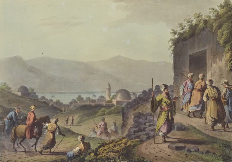 Views in Palestine - Village of Bethany & the Dead Sea (1804)