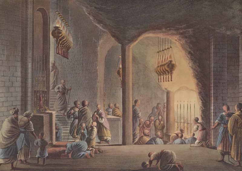 Views in Palestine - Subterranean Church of Bethlehem (1804)