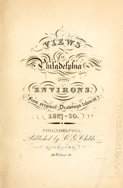 Views in Philadelphia and its vicinity - Illustrated Title Page (1827)