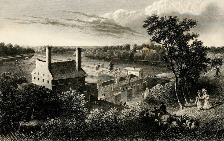 Views in Philadelphia and its vicinity - Fairmount Water-Works from the Reservoir (1827)