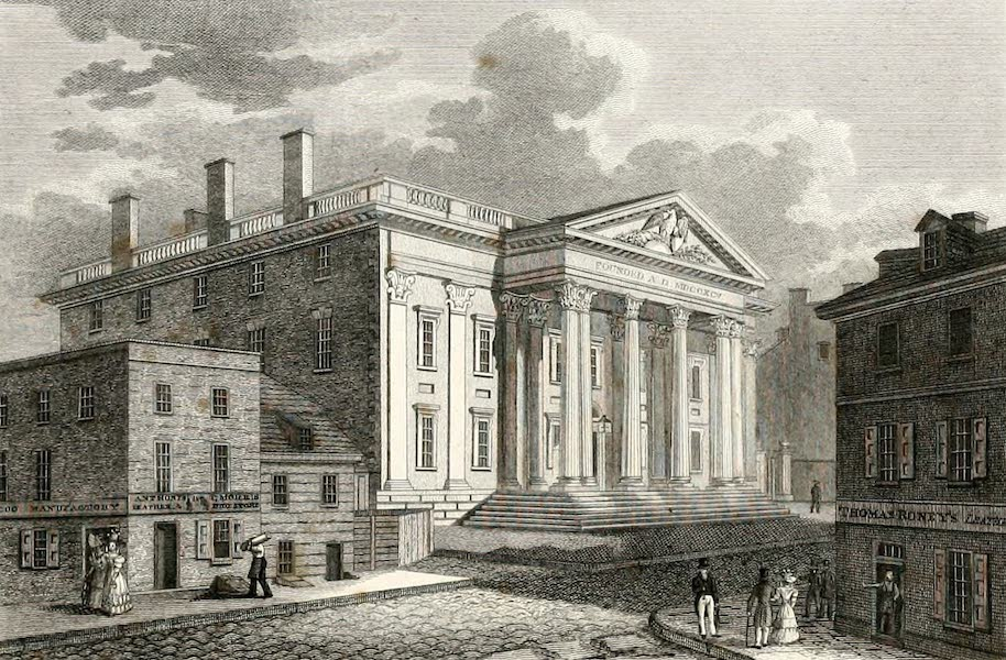 Views in Philadelphia and its vicinity - Girard's Bank - Late United States Bank (1827)