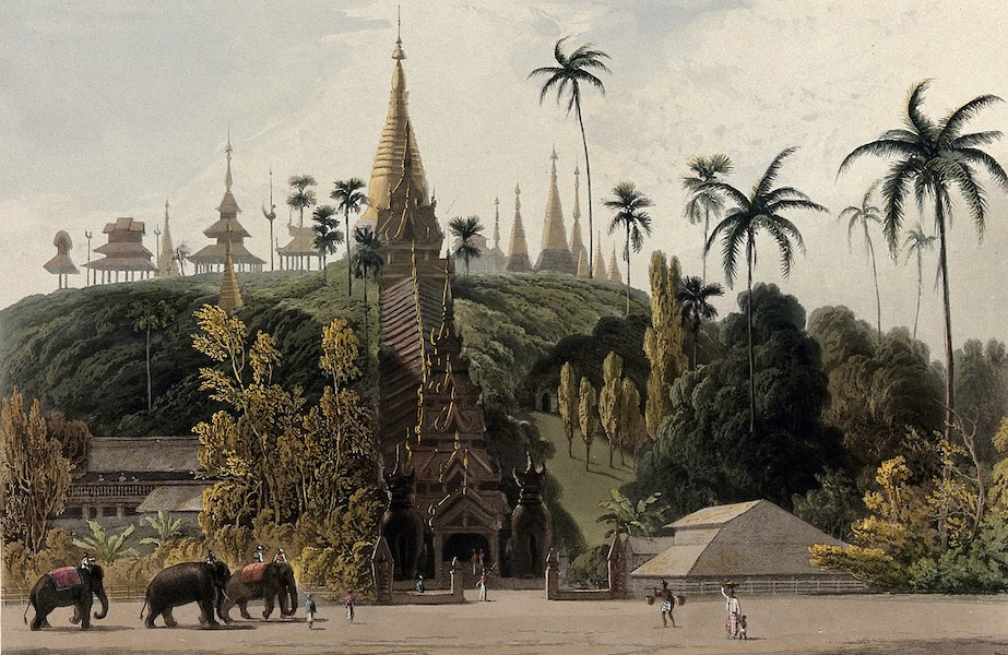 Views in the Burman Empire - North face of the Great Pagoda, Prome (1831)