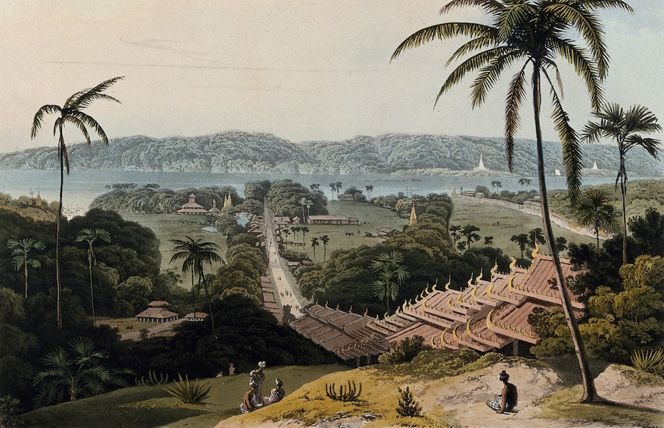 Views in the Burman Empire - View from the West face of the Great Pagoda, Prome  (1831)