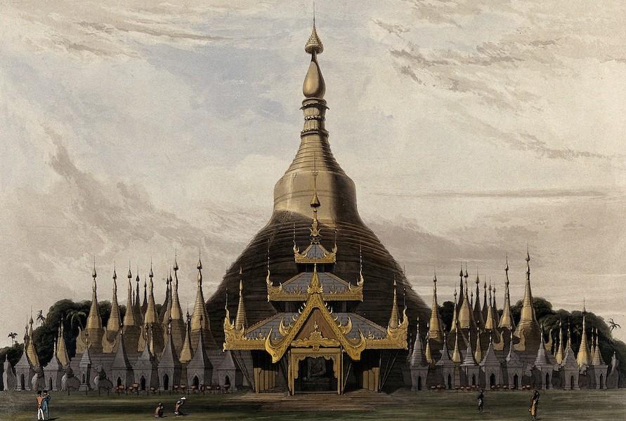 Views in the Burman Empire - Dagon Pagoda, near Rangoon (1831)