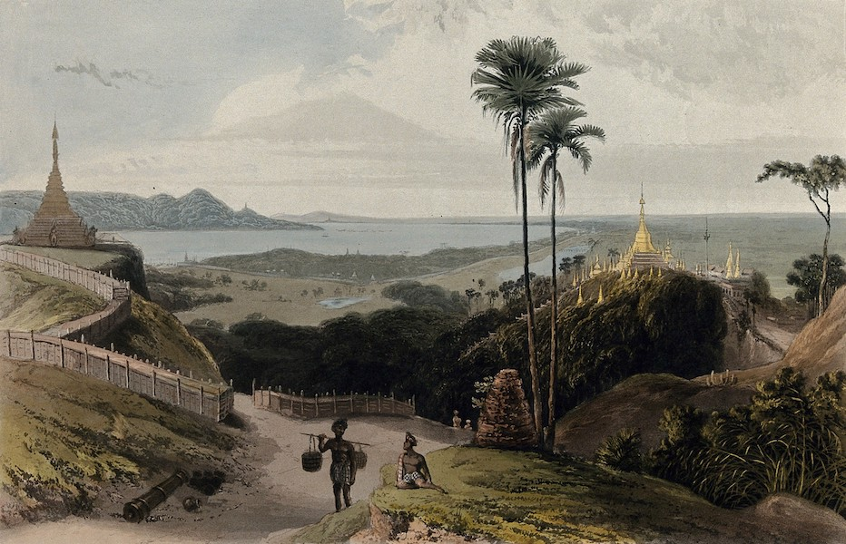 Views in the Burman Empire - Prome, from the South heights (1831)