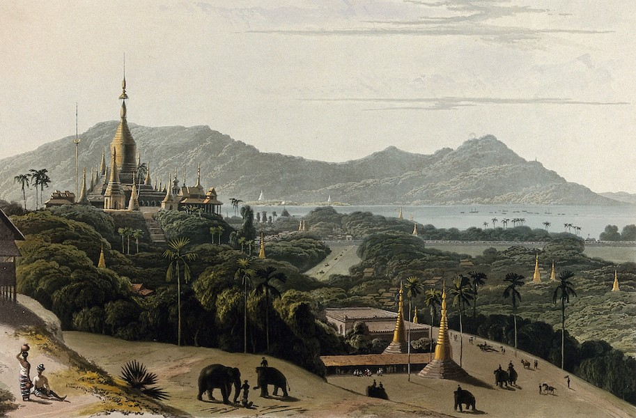 Views in the Burman Empire - Prome, from the heights occupied by H.M. 13th Light Infantry (1831)