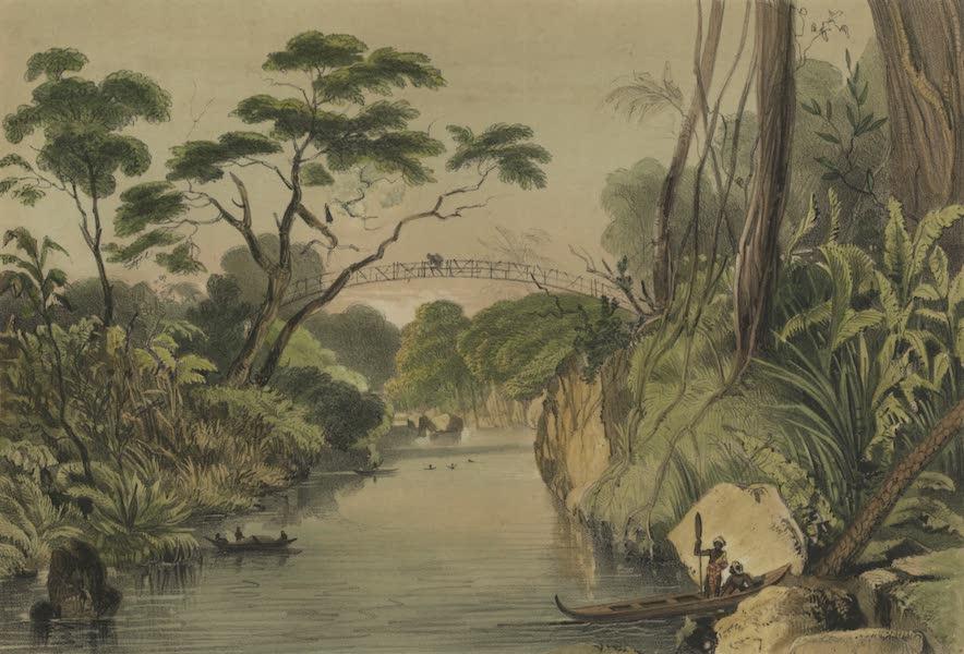 Views in the Eastern Archipelago - Dayak Suspension Bridge, Sawawak (1847)