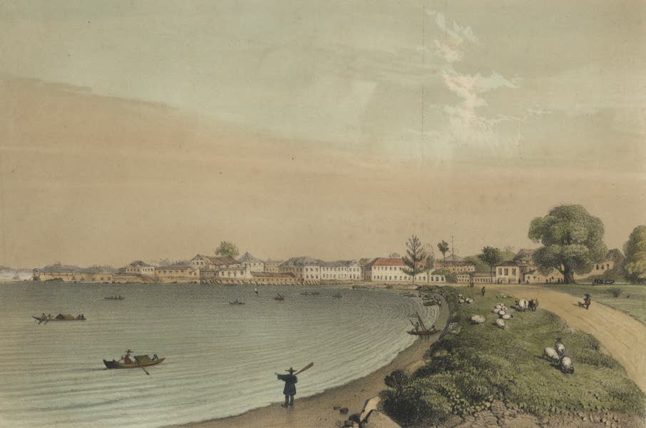 Views in the Eastern Archipelago - Singapore, from Esplanade (1847)