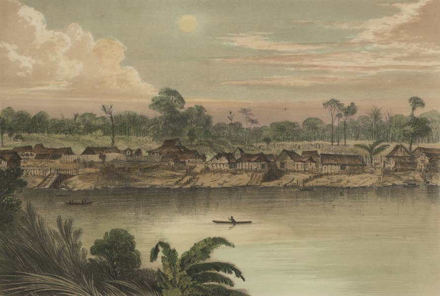 Views in the Eastern Archipelago - Mr. Brooke's first residence, Sarawak (1847)