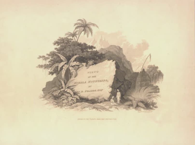 Views in the Himala Mountains - Title Page (1820)