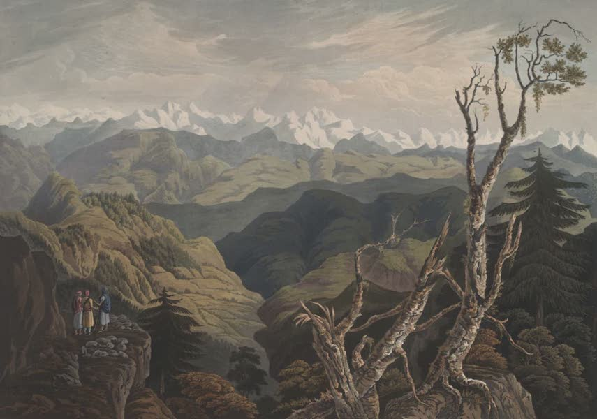 Views in the Himala Mountains - Country to the Northward from Nowagurh Teeba (1820)