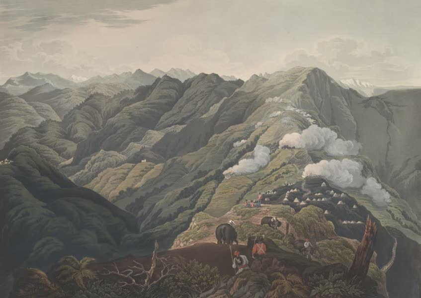 Views in the Himala Mountains - The Ridge and Fort of Jytock (1820)