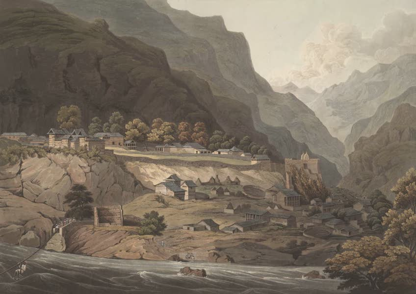 Views in the Himala Mountains - The Town of Rampore (1820)