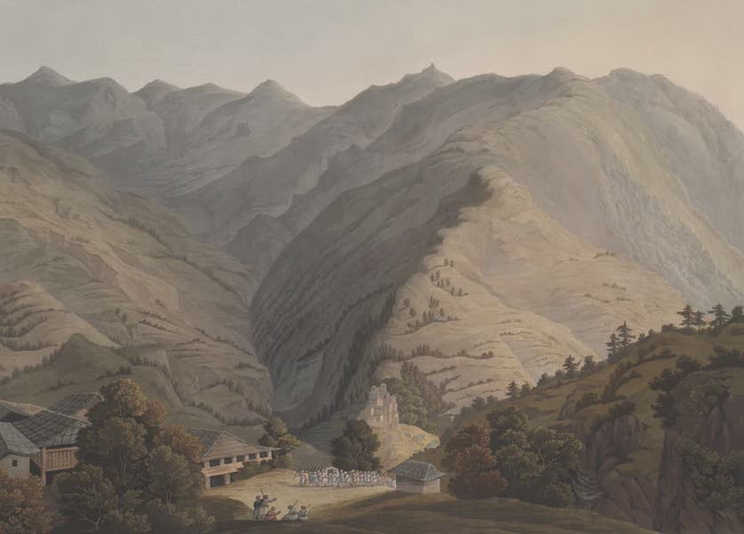 Views in the Himala Mountains - House of Rana of Cote Gooroo (1820)