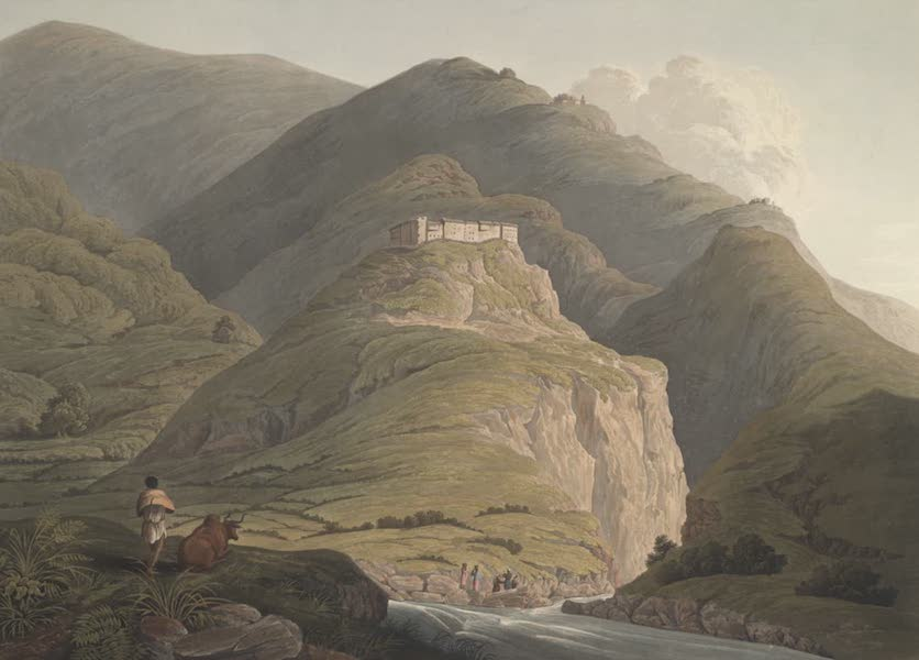 Views in the Himala Mountains - Fort of Raeengurh (1820)