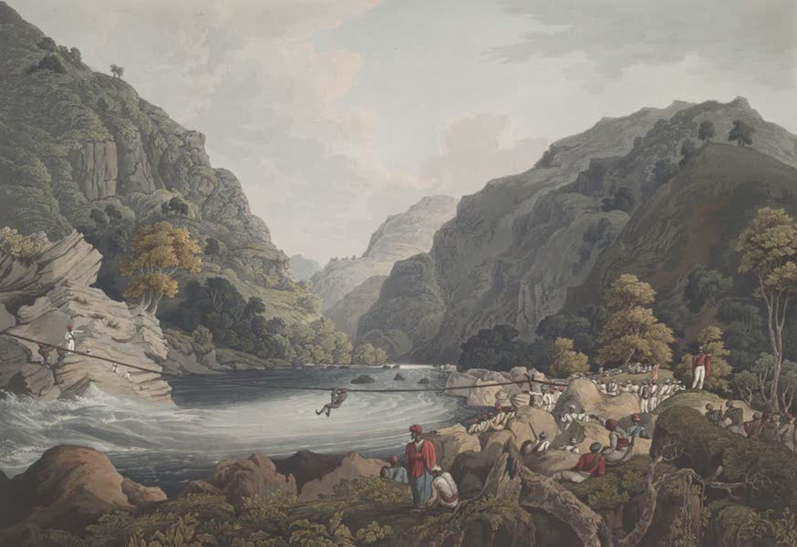 Views in the Himala Mountains - Crossing the Touse (1820)