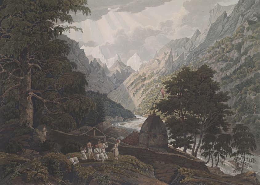 Views in the Himala Mountains - Gungotree the Holy Shrine of Mahadeo (1820)