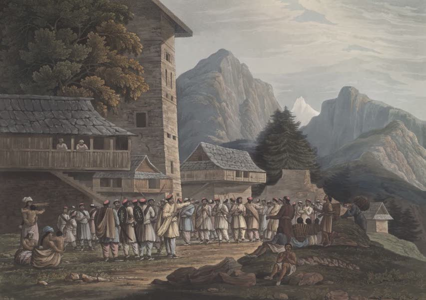 Views in the Himala Mountains - Assemblage of Hillmen (1820)