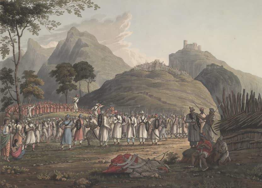 Views in the Himala Mountains - Assemblage of Ghoorkas (1820)