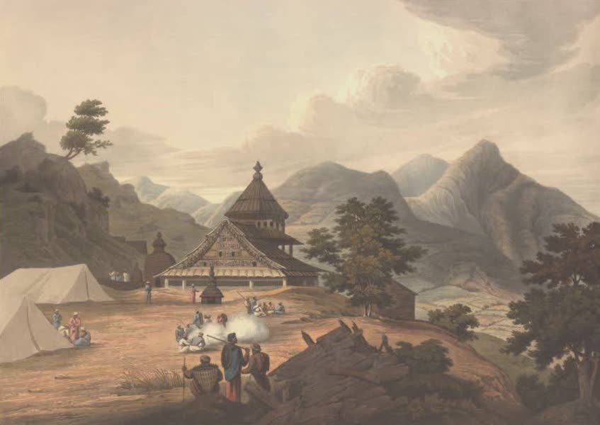 Views in the Himala Mountains - Temple of Mangnee (1820)