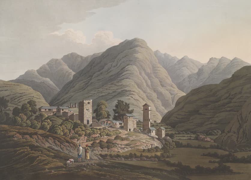 Views in the Himala Mountains - Village of Shai (1820)