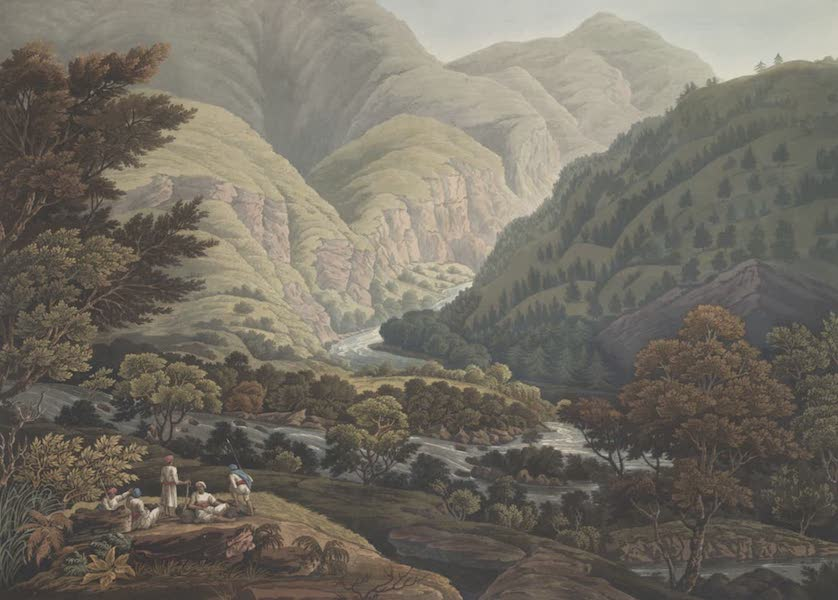 Views in the Himala Mountains - The Junction of the Touse and Pabur (1820)
