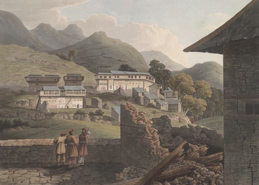 Views in the Himala Mountains - The Village Jushul (1820)
