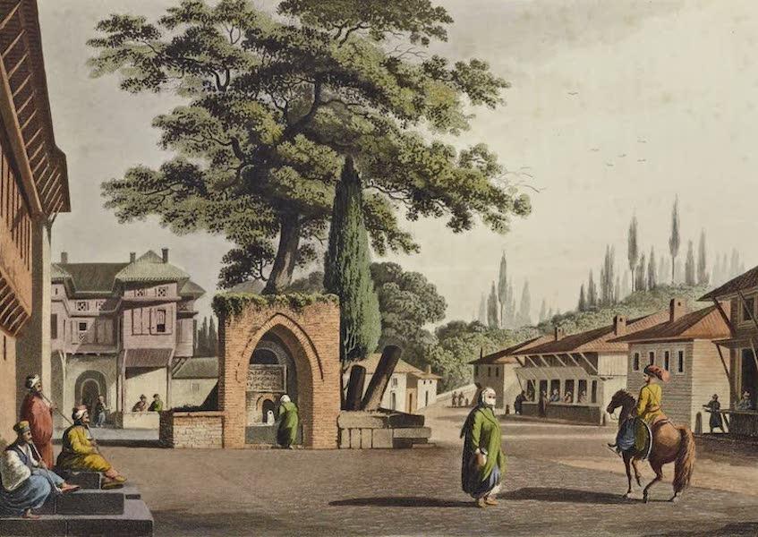 Views in the Ottoman Dominions - Caravanasary ay Kustchiuk-Czemege (1810)