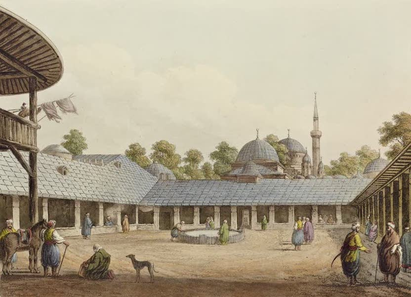 Views in the Ottoman Dominions - Caravansary at Borgas (1810)